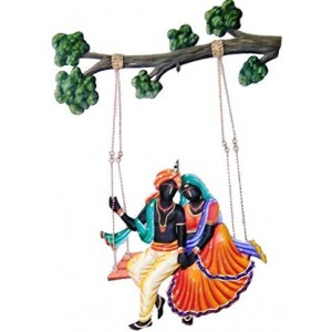 Radha krishna Jhula wall Hanging
