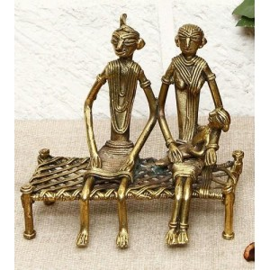 Antique Metal  Couple statue