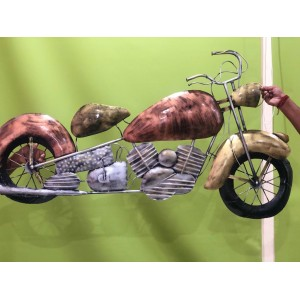 Buy Copper Vintage Bike Decor Wall Art