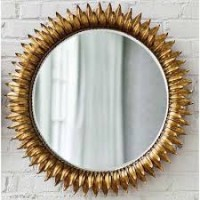 Decorative Gold Metal  Wall Mirror