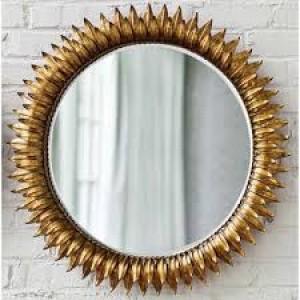 Decorative Gold Metal  Wall Mirror
