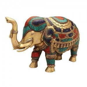 Antique Vintage Metal Elephant