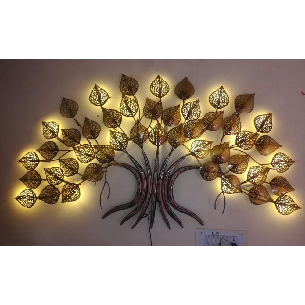 Metal Tree Wall art  with Led Lights