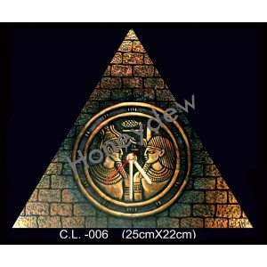 Triangle Egypt Terracotta Wall Clock