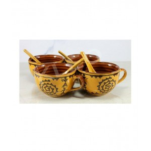 Ceramic Soup Bowl Set With Spoon