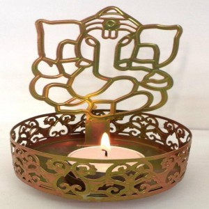 Ganesha T Light Candle Holder