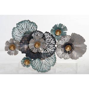 Decorative Metal Wall Art Flower Design.