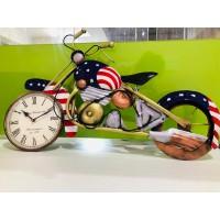 Metal Bike With Clock
