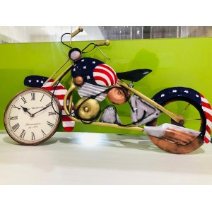 Metal Bike With Clock