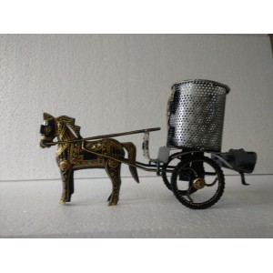 Antique Horse Showpiece with Bucket
