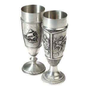 Metal Wine Goblets