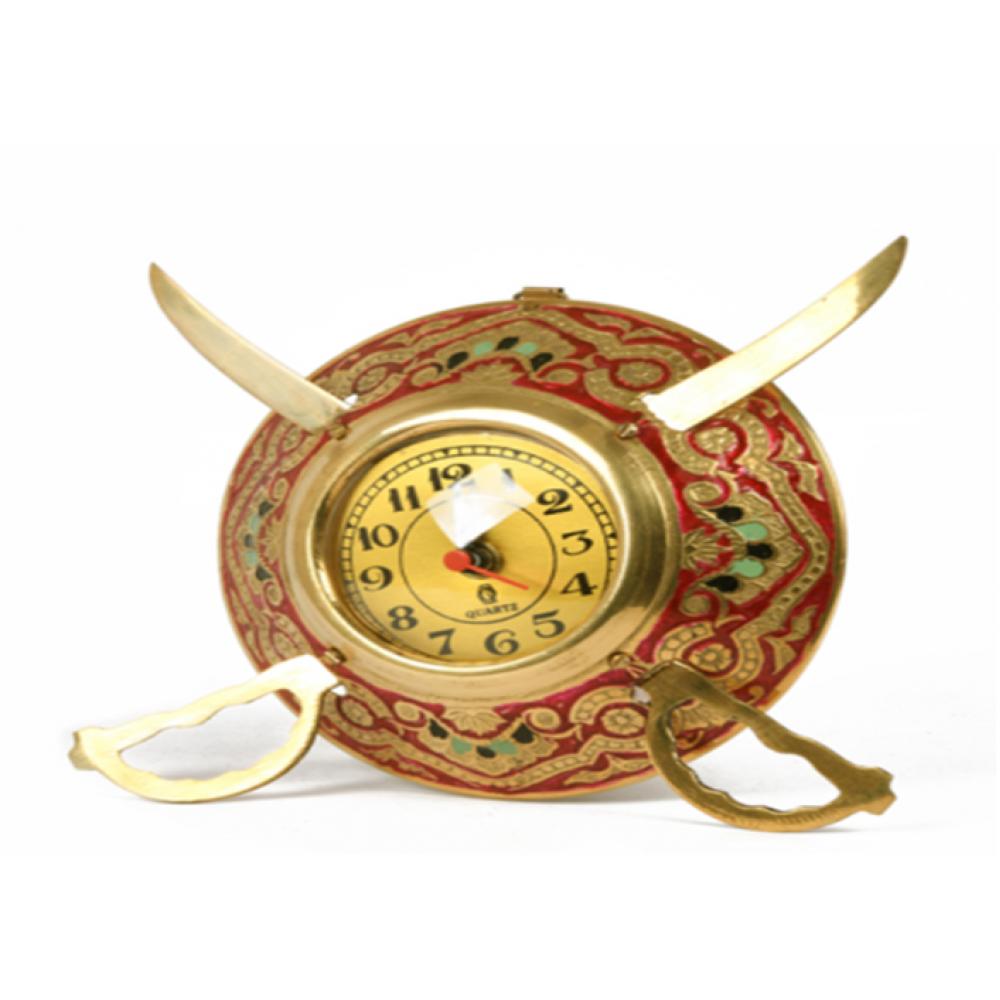 Metal Dhal Talwar Clock