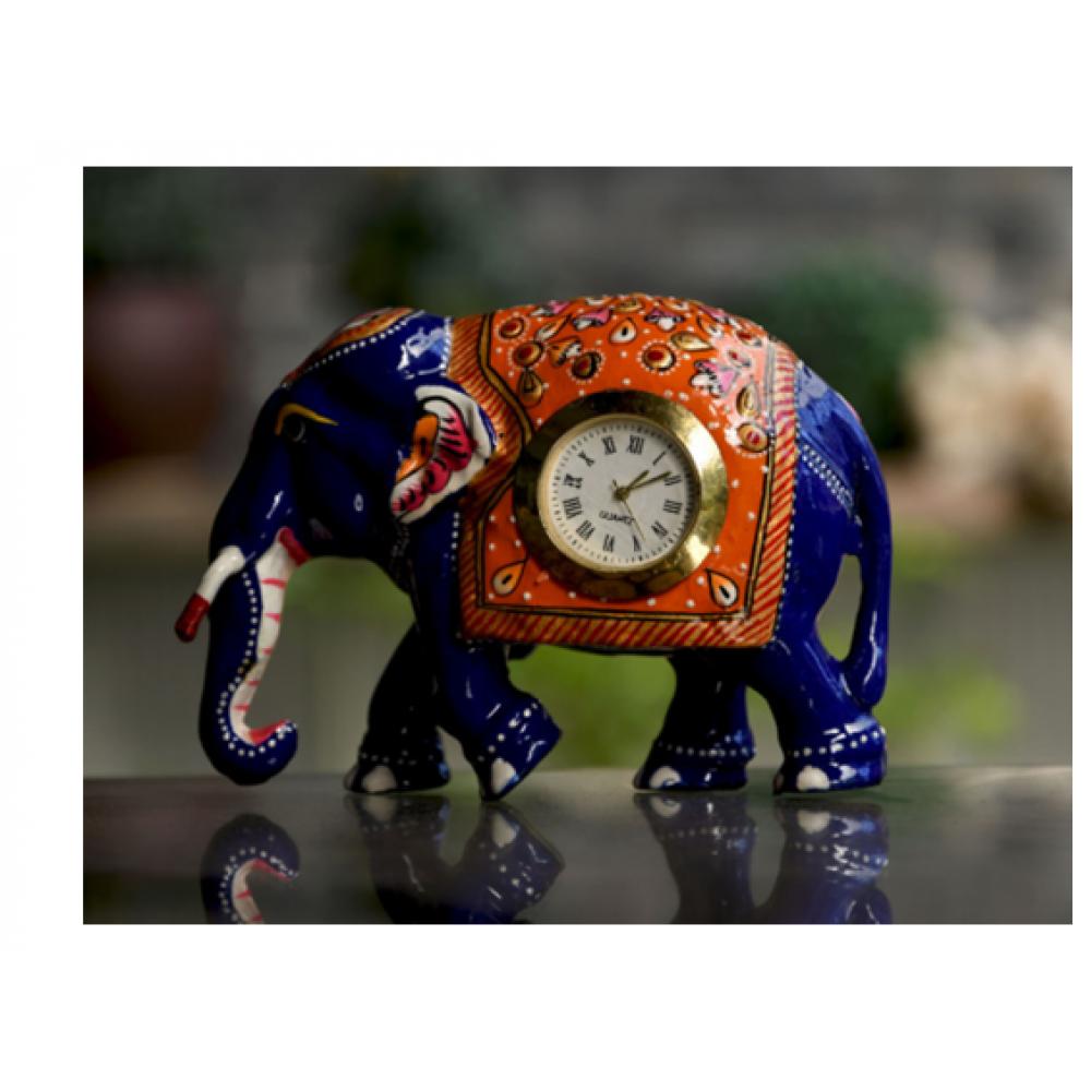 metal meena elephant with watch