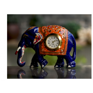 metal meena elephant with watch