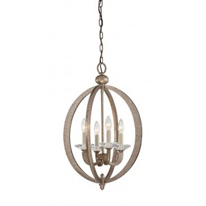 Brown Metal Diamond Chandelier Light