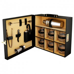 Premium Leather Bar Set for Travel   Bar Accessories Trending Gift item for your love ones