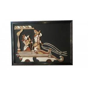 Shree Krishna and Arjuna on Chariot