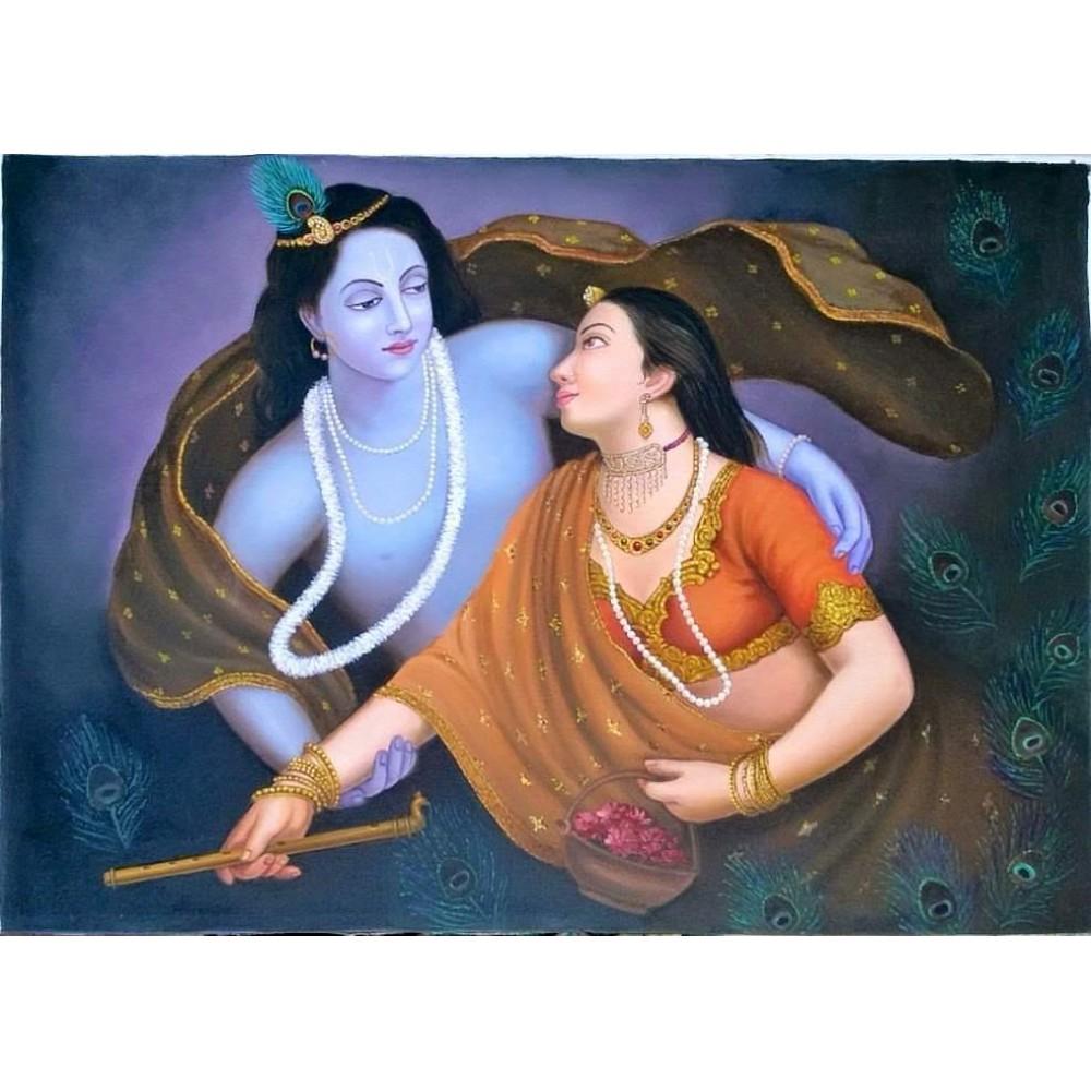 Radha Krishna Canvas Painting